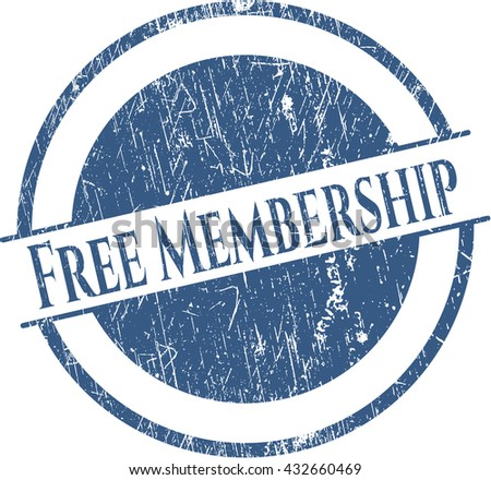 Free Membership rubber seal with grunge texture