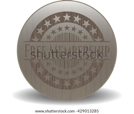 Free Membership wood emblem. Retro