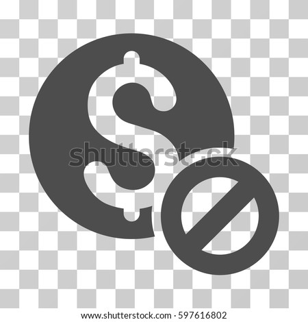 Free Of Charge icon. Vector illustration style is flat iconic symbol, gray color, transparent background. Designed for web and software interfaces. Stock photo ©