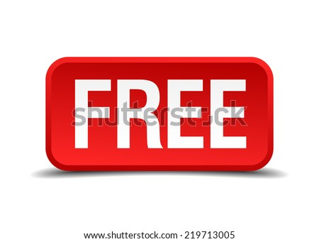 free red 3d square button