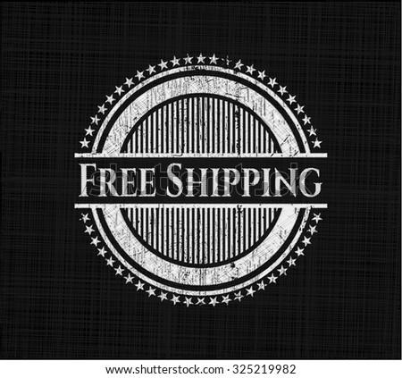 Free Shipping chalkboard emblem on black board