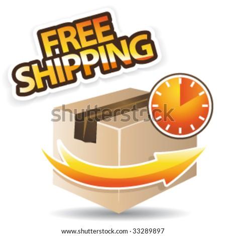 Free shipping concept vector icon