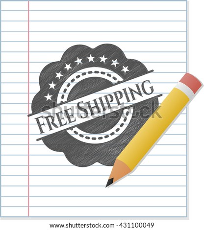 Free Shipping draw with pencil effect