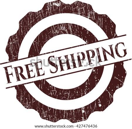 Free Shipping grunge style stamp