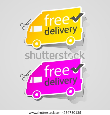 Free Shipping labe sign