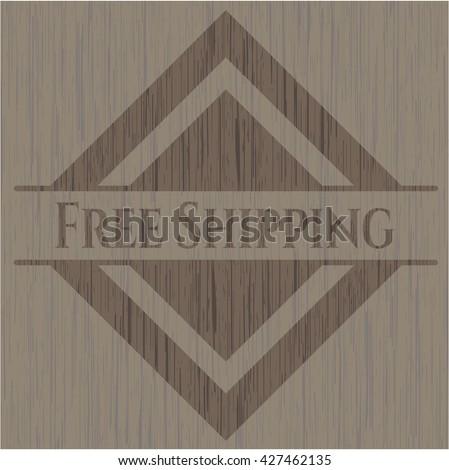 Free Shipping retro style wooden emblem