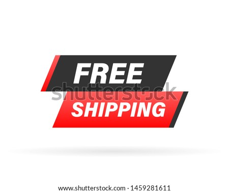 Free shipping rubber stamp. Red Free shipping rubber grunge stamp vector illustration.