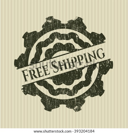 Free Shipping rubber stamp with grunge texture