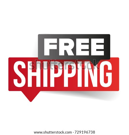 Free Shipping speech bubble vector