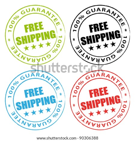 Free shipping stamps vector collection.