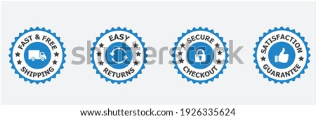 Free Shipping ,Trust Badges, easy return, easy returns, secure checkout, satisfaction guarantee