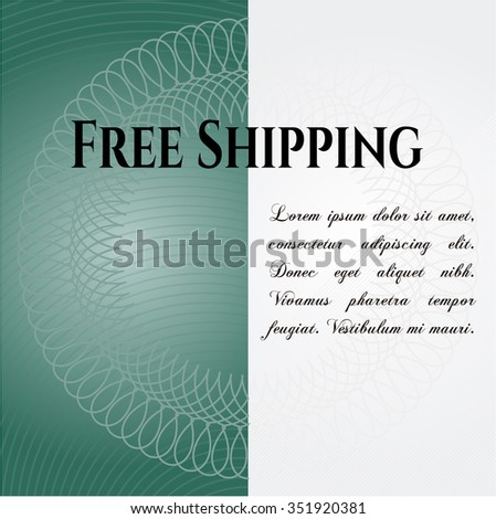 Free Shipping vintage style card or poster