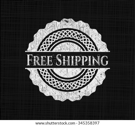 Free Shipping with chalkboard texture