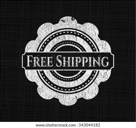 Free Shipping written on a blackboard