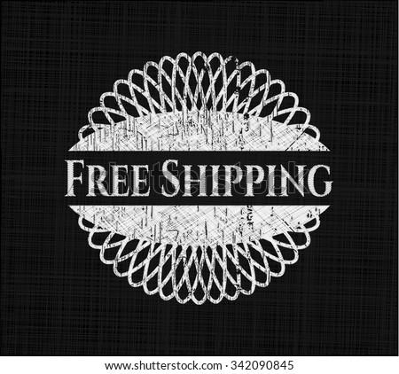 Free Shipping written on a chalkboard