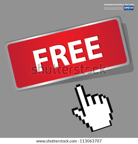 Free sign button,Vector