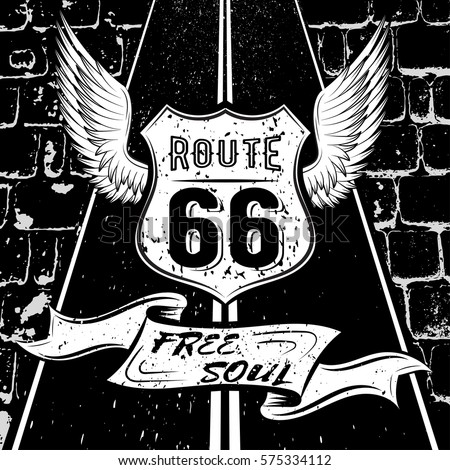 free soul route 66 vector
