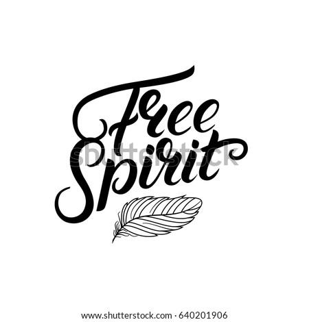free spirit hand written