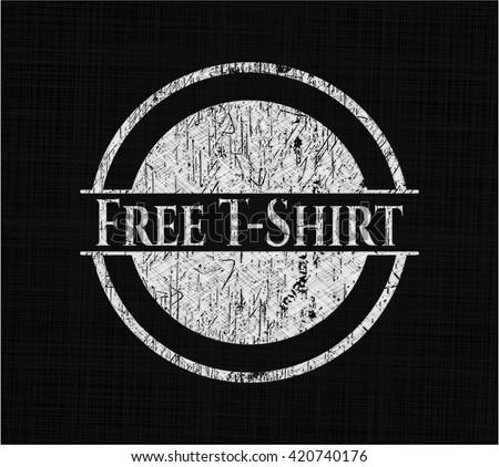 Free T-Shirt chalkboard emblem