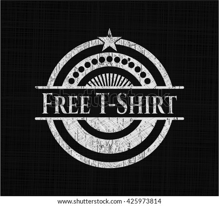 Free T-Shirt on chalkboard