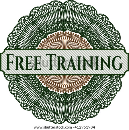 Free Training abstract rosette