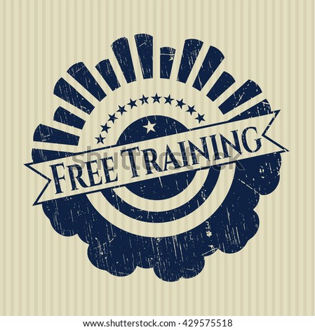 Free Training grunge style stamp