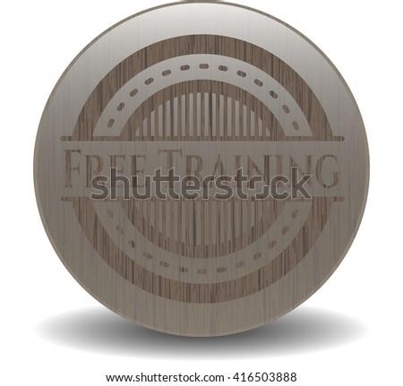 Free Training retro style wooden emblem