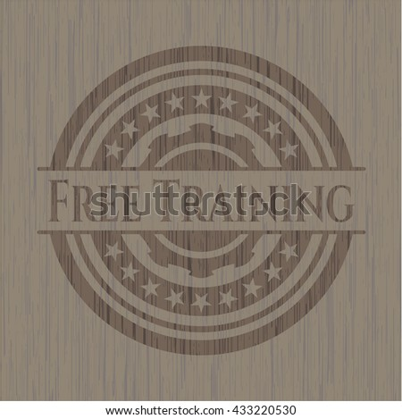 Free Training wood icon or emblem