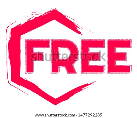 Free. Vector Sticker. Free Label Vector. Free Stamp.