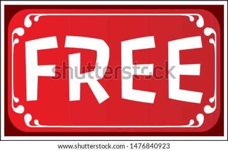 Free Vector Sticker. Red Vector Sticker. Free Decorative Red Sticker. #1476840923