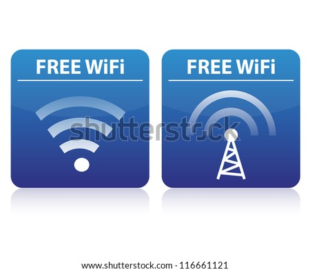 Free wifi buttons