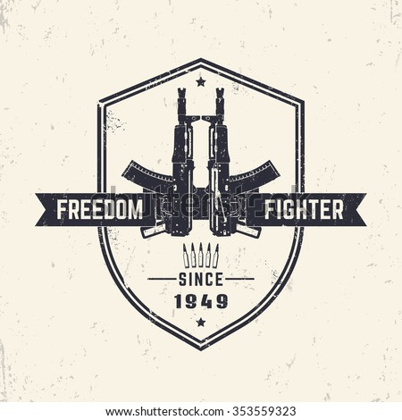 freedom fighter  t shirt design