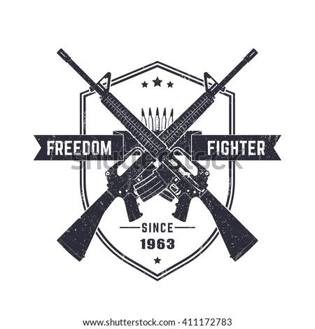 freedom fighter  vintage t