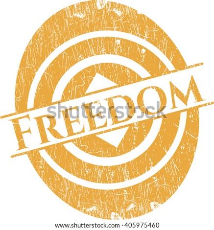 Freedom grunge seal