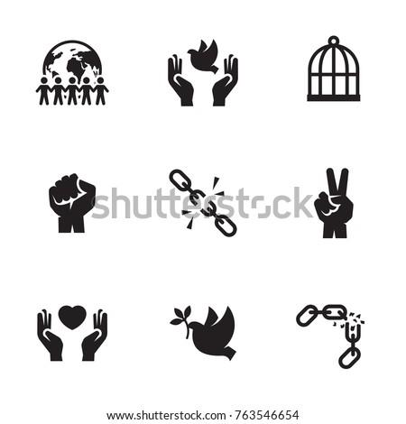 freedom icons set