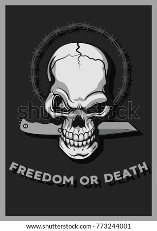 freedom or death vector art