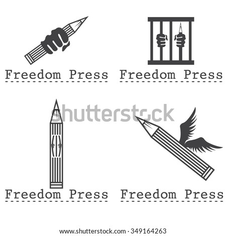 freedom press concept vector