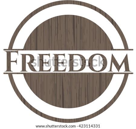 Freedom realistic wood emblem
