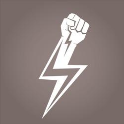 freedom revolution concept. vector  fist icon