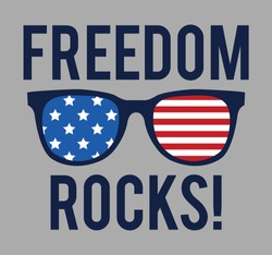 freedom rocks!, graphic tees vector design