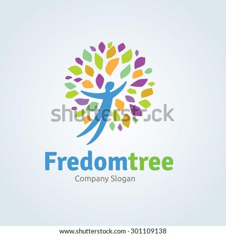freedom tree vector logo