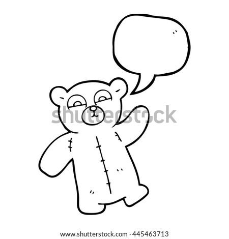 freehand drawn speech bubble