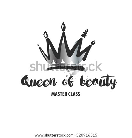 Royalty-free Hand lettering .Word queen. Background ...