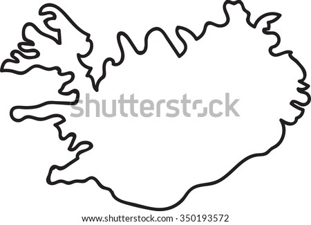 freehand iceland map sketch on
