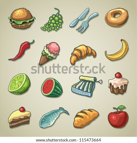 Freehand icons - Food