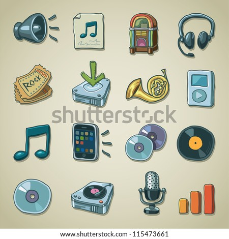 Freehand icons - Music