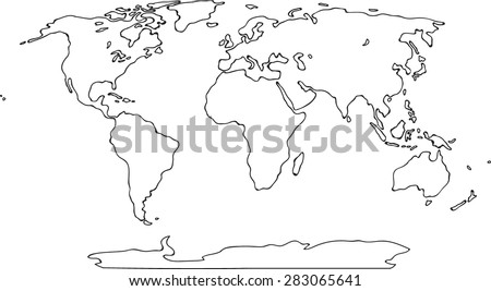 Sketch world map vectors download free vector art stock graphics freehand world map sketch on white background gumiabroncs Gallery