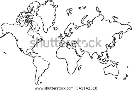 Sketch world map vectors download free vector art stock freehand world map sketch on white background gumiabroncs Choice Image