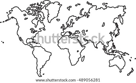 Sketch world map vectors download free vector art stock graphics freehand world map sketch on white background gumiabroncs Images