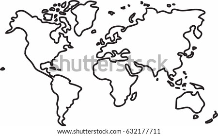 Sketch world map vectors download free vector art stock freehand world map sketch on white background gumiabroncs Image collections